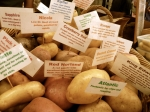 Many varieties of potatoes at Eveleigh Markets?