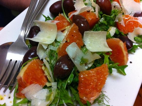 Blood orange and fennel salad