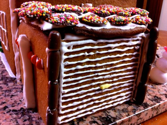 garage made out of gingerbread