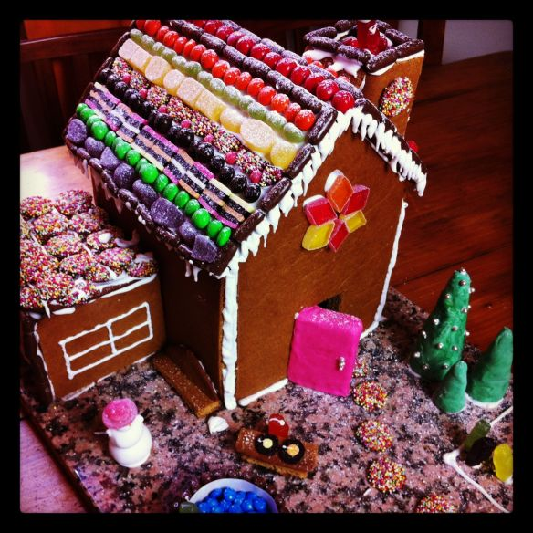 gingerbread house completed