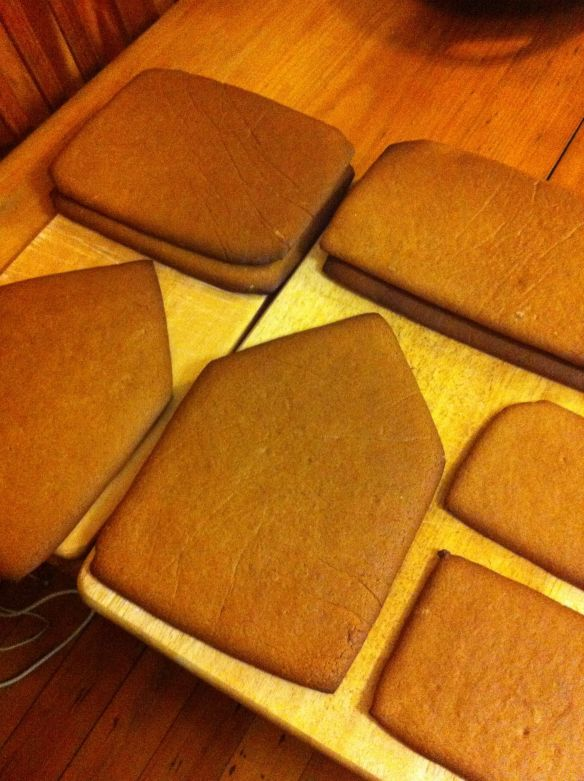 gingerbread slabs before construction