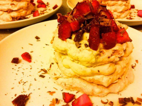 Singular Hazelnut meringue stack