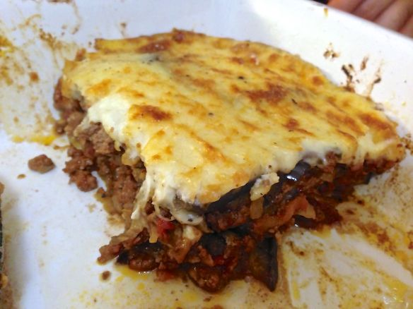 last slice of moussaka