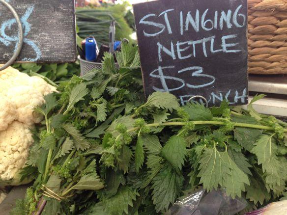 stinging nettles at the market